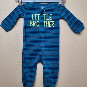 4/$20 Carter's Little Brother Footie  6-9 Months